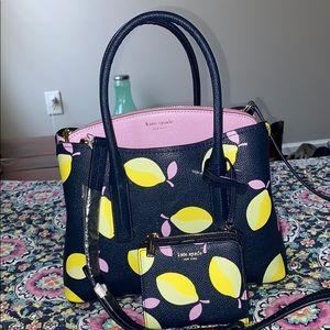 Kate Spade Margaux lemons medium satchel w/wallet